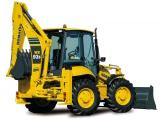 Komatsu WB97R stroj určený pre zemné a výkopové práce